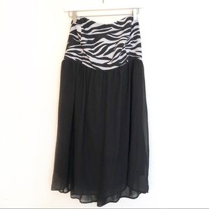 Torrid strapless zebra print dress